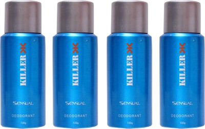 Killer 4 Sensual Deo Deodorant Spray  -  For Men, Women