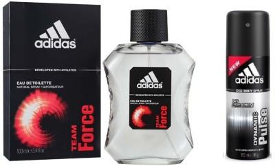 Adidas The Team Force EDT & Dynamic Pulse Deo combo Body Spray  -  For Boys, Men