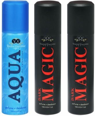 Vincent Valentine Paris Dark Magic & Aqua De Valentine Body Spray - For Men, Women(480 ml)