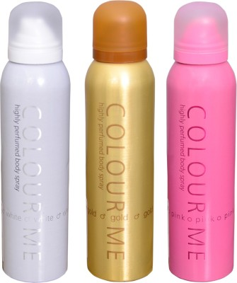 COLOR ME 1 HOMME GOLD::1 WHITE::1 PINK DEO Deodorant Spray  -  For Men