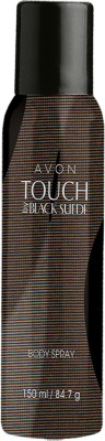 Avon Touch By Black Suede Body Spray  -  For Men