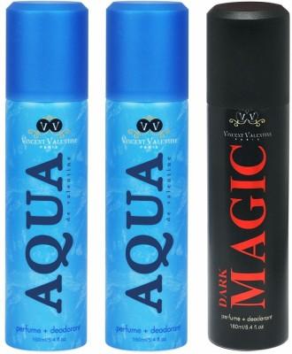 Vincent Valentine Paris Aqua De Valentine & Dark Magic Body Spray - For Men, Women(160 ml)