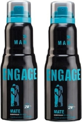 Engage Combo of 2 Mate Deodorant Spray  -  For Men
