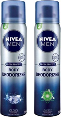 Nivea Ice Cool and Energy Body Spray  -  For Men