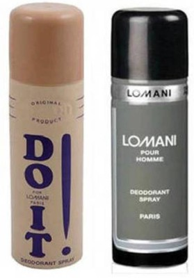 Lomani (Do It and Pour Homme) Deodorant Men 200ml Body Spray - For Boys