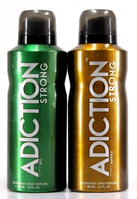 Adiction Rio & Hawaii Deodorant Spray - For Boys, Men(300 ml)
