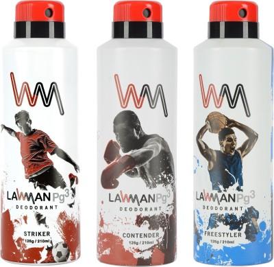 LAWMAN PG3 Striker, Contender, Freestyler Deodorant Spray  -  For Men