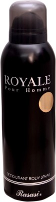 ROYALE pour homme RASASI BLACK Deodorant Spray  -  For Boys