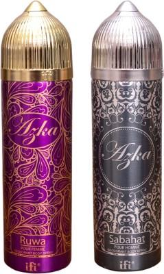 AZKA 1 RUWA::1 SABAHAT Deodorant Spray  -  For Men, Women