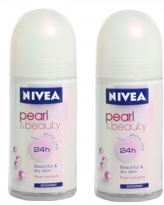 Nivea Pearl Beauty Deo Deodorant Roll-on  -  For Girls, Women