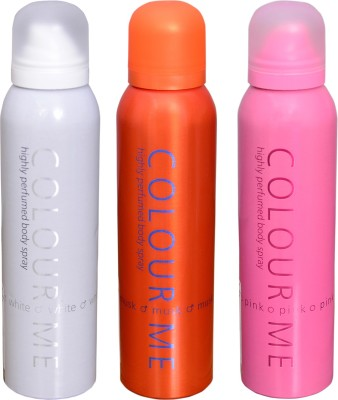 COLOR ME 1 MUSK::1 WHITE::1 PINK DEO Deodorant Spray  -  For Men