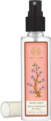 Forest Essentials Body Mist Mysore Sandalwood & Vetiver Body Mist  -  For Men, Women(100 ml)