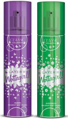 Layer,r Wottagirl Classic Heaven Evergreen Body Mist  -  For Girls, Women