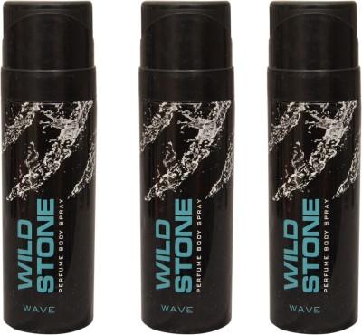 Wild Stone 3 Wave Deodorant Spray  -  For Men