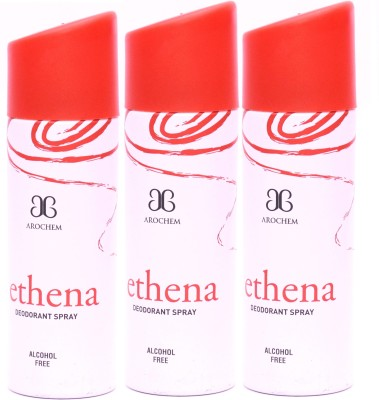 Arochem 3 x Ethena Deodorant Spray  -  For Men, Women