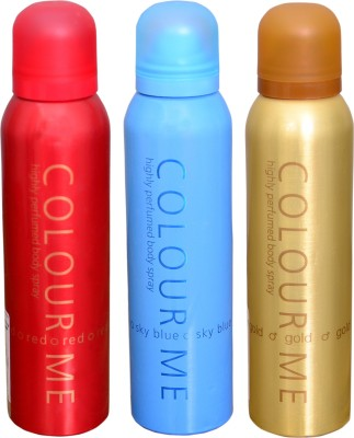 COLOR ME 1 RED::1 SKY BLUE::1 HOMME GOLD DEO Deodorant Spray  -  For Men