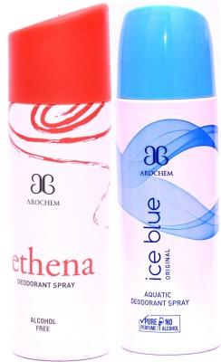 Arochem Ethena Ice Blue Deodorant Spray  -  For Men, Women