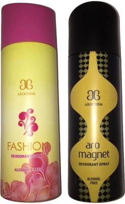 Arochem Fashion + Magnet Deodorant Spray  -  For Men, Women