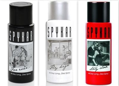 Spykar Deodorant Forever, Stay Close & Fly High Combo Pack Body Spray  -  For Boys, Men