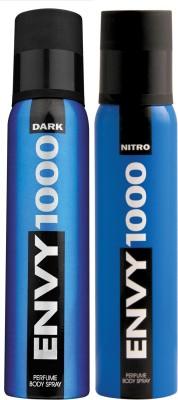 ENVY 1000 Dark & Nitro Deo Combo (Pack of 2) Body Spray  -  For Men
