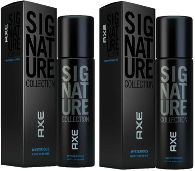 Axe Mysterious Signature Combo Of Two Body Spray - For Boys, Men(244 ml)