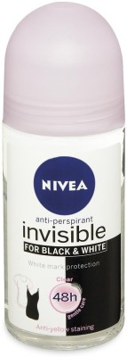 Nivea Invisible for Black & White 48h Anti-Perspirant (Imported) Deodorant Roll-on  -  For Women