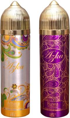 AZKA 1 AMARA::1 RUWA Deodorant Spray  -  For Men, Women