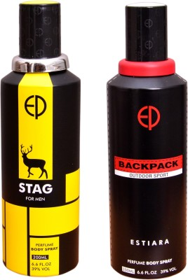 ESTIARA 1 STAG::1 BACKPACK OUTDOOR SPORT Deodorant Spray  -  For Men