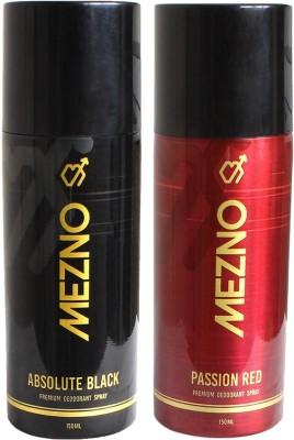 Mezno Fragrance Deodorant Combo of 2 Body Spray  -  For Men