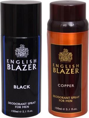 English Blazer 1 BLACK::1 COPPER Deodorant Spray  -  For Men