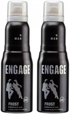 Engage Combo of 2 Frost Deodorant Spray  -  For Men