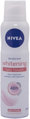 Nivea Whitening Talc Touch Deodorant Spray - For Men & Women  (150 ml)