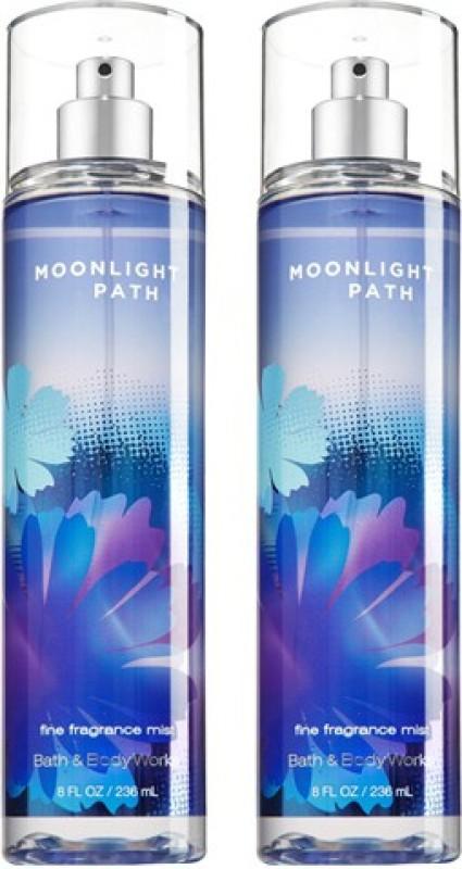 Bath & Body Works Moonlight Path Combo Fragrance Body Mist  -  For Boys, Men, Girls, Women(472 ml)