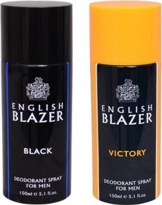 English Blazer 1 BLACK::1 VICTORY Deodorant Spray  -  For Men