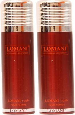 Lomani Rush Deodorant Spray  -  For Women