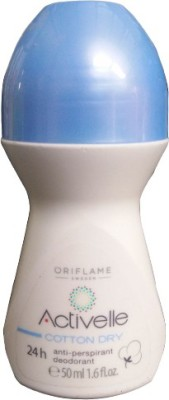 Oriflame Activelle Anti-perspirant 24h Deodorant Cotton Dry Deodorant Roll-on  -  For Women(50 ml)