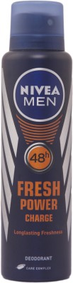 Nivea Nivea Fresh Power Charge Spray - For Men Body Spray - For Men(150 ml)