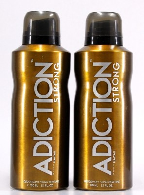 Adiction Hawaii Pack of 2 Deodorant Spray - For Boys, Men(300 ml)
