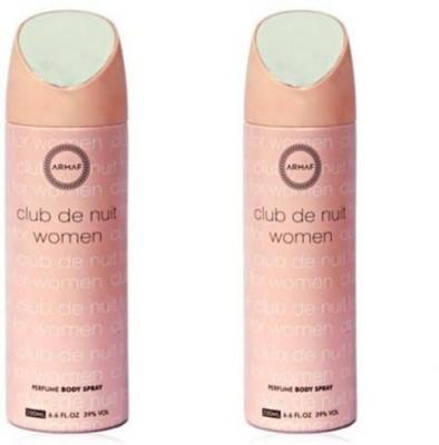 Armaf club de nuit Deodorant Spray  -  For Women(400 ml)