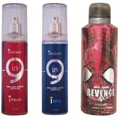 Intellect IN9 I POUT I SKY SPIDERMAN REVENGE Body Mist  -  For Boys, Men, Girls, Women