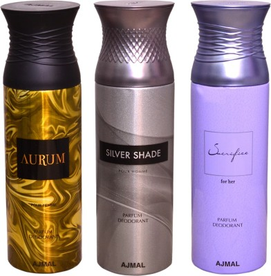 AJMAL 1 AURUM::1 SILVER SHADE::1 SACRIFICE FOR HER Deodorant Spray  -  For Men