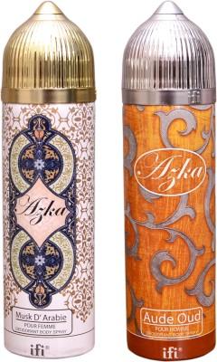 AZKA 1 MUSK D, ARABIE::1 AUDE OUD Deodorant Spray  -  For Men, Women