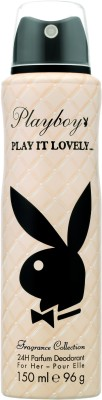 Playboy Play it Lovely Deodorant Spray - For Women  (150 ml)