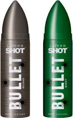 LAYERR SHOT Bullet Reload and Burst Body Spray - For Men, Boys(240 ml)