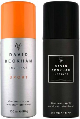 David Beckham Instinct Sport and Instinct Deodorant Spray  -  For Men