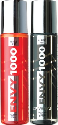 ENVY 1000 Texas Heat & Alpine Thrill Crystal Deo Combo (Pack of 2) Body Spray  -  For Men