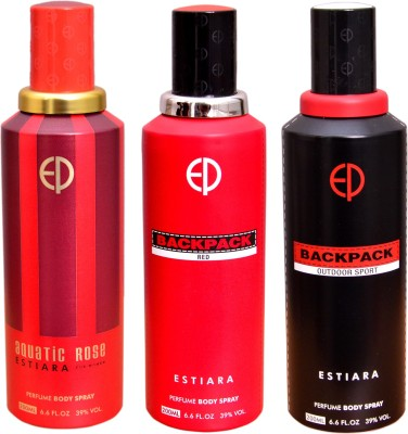 ESTIARA 1 AQUATIC ROSE::1 BACKPACK RED::1 BACKPACK OUTDOOR SPORT Deodorant Spray  -  For Men, Women