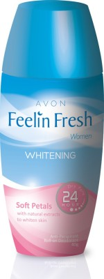 Avon Feelin Fresh Whitening Clean with Natural Extracts to whiten Skin Deodorant Roll-on  -  For Women, Girls(40)