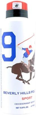 Beverly Hills Polo Club Sport Deodorant No 9 For Mens Body Spray  -  For Men