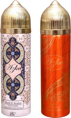 AZKA 1 MUSK D, ARABIE::1 AWA Deodorant Spray  -  For Men, Women